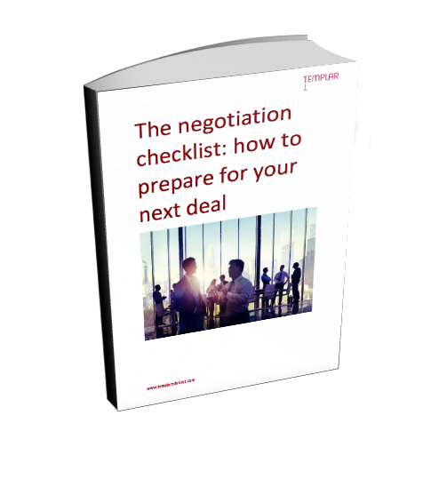 3D image of the ebook 'The negotiation checklist: how to prepare for your next deal'